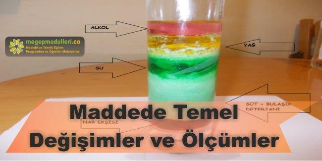 maddede temel degisimler ve olcumler dersi megep modulleri