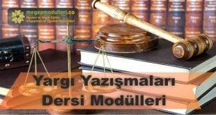 yargi yazismalari dersi megep modulleri