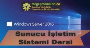 sunucu isletim sistemi dersi megep modulleri