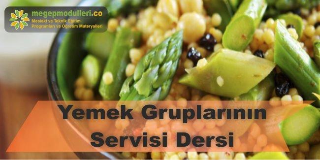 yemek gruplarinin servisi dersi megep modulleri